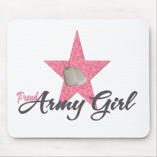 Proud Army Girl Mouse Pad
