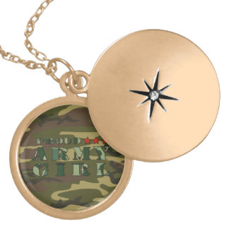 Proud Army Girl Necklace