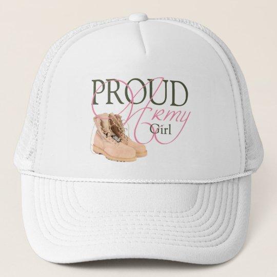 proud army girl trucker hat