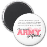 Proud Army Girlfriend 2 Inch Round Magnet