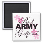Proud Army Girlfriend 2 Inch Square Magnet