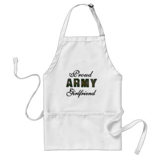 Proud Army Girlfriend Adult Apron