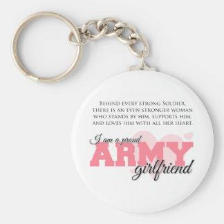Proud Army Girlfriend Basic Round Button Keychain