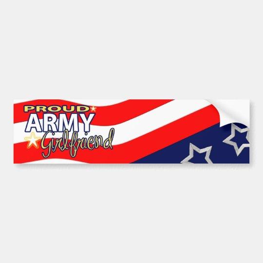 Proud Army Girlfriend Bumpersticker Bumper Sticker