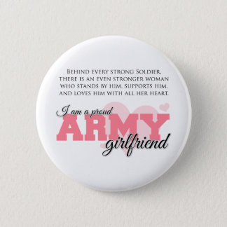 Proud Army Girlfriend Button