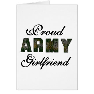 Proud Army Girlfriend Card
