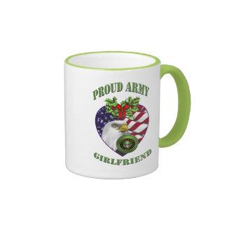 Proud Army Girlfriend Christmas Coffee Cup Coffee Mugs