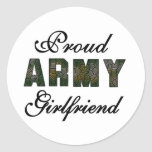Proud Army Girlfriend Classic Round Sticker