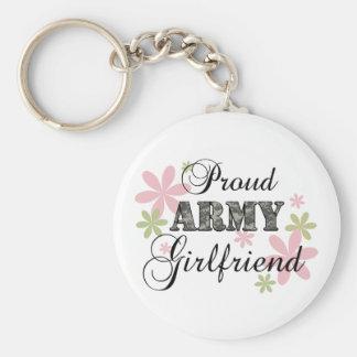 Proud Army Girlfriend [fl c] Basic Round Button Keychain