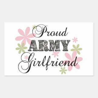 Proud Army Girlfriend [fl c] Rectangular Sticker