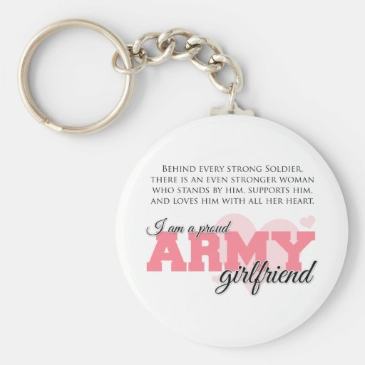 Proud Army Girlfriend Key Chains