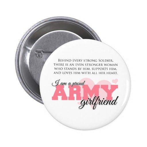 Proud Army Girlfriend Pinback Button