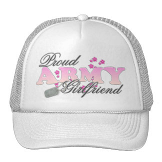 Proud Army Girlfriend(pink) Mesh Hats