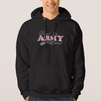 Proud Army Girlfriend(pink) Hooded Sweatshirt