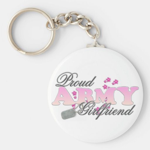 Proud Army Girlfriend(pink) Keychains