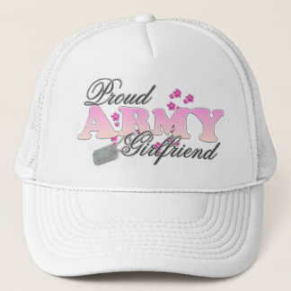 Proud Army Girlfriend(pink) Trucker Hat