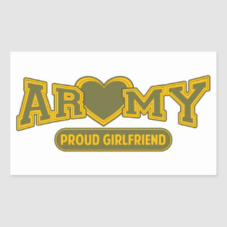 Proud Army Girlfriend Rectangular Sticker
