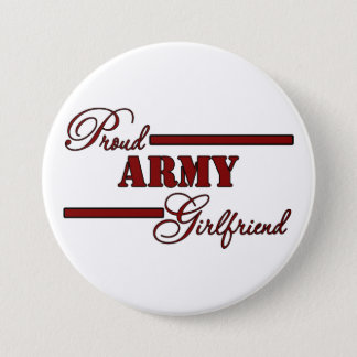 Proud Army Girlfriend (Red N Black) Button