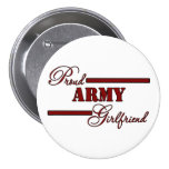 Proud Army Girlfriend (Red N Black) Pinback Button