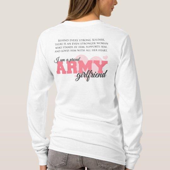 0a2050a8 Proud Army Girlfriend T-Shirt | Zazzle.com