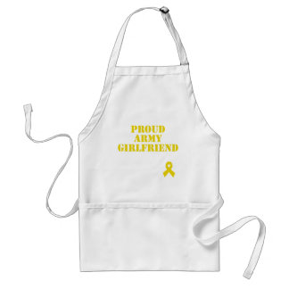 Proud Army Girlfriend with Ribbon Apron