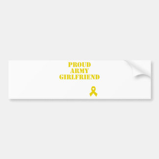 Proud Army Girlfriend with Ribbon Bumper Stickers