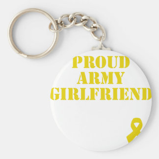 Proud Army Girlfriend with Ribbon Keychain