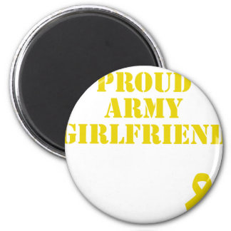 Proud Army Girlfriend with Ribbon Magnet