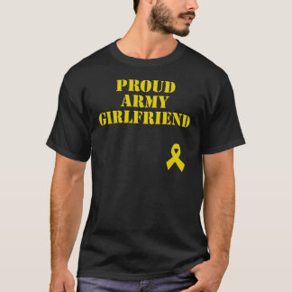 Proud Army Girlfriend with Ribbon T-Shirt