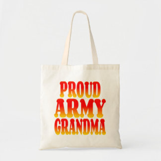 Proud Army Grandma in Cheerful Colors Canvas Bag