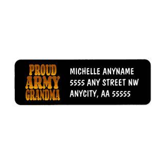 Proud Army Grandma in Gold Label