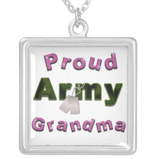 Proud Army Grandma Necklace