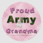 Proud Army Grandma Stickers