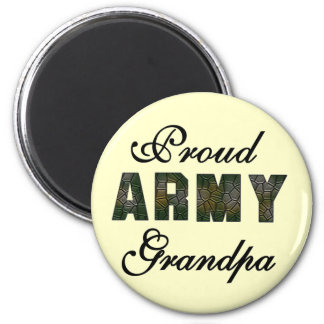 Proud Army Grandpa Tshirts and Gifts 2 Inch Round Magnet