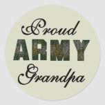 Proud Army Grandpa Tshirts and Gifts Classic Round Sticker