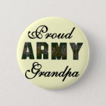 Proud Army Grandpa Tshirts and Gifts Pinback Button