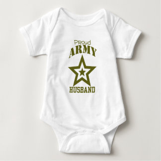 Proud Army Husband Baby Bodysuit