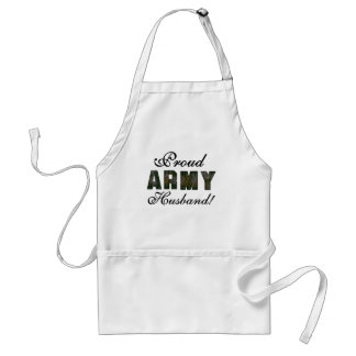 Proud Army Husband Tshirts and Gifts Adult Apron