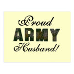 Proud Army Husband Tshirts and Gifts Postcard
