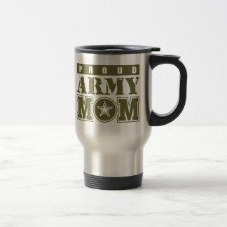 Proud Army Mom 15 Oz Stainless Steel Travel Mug