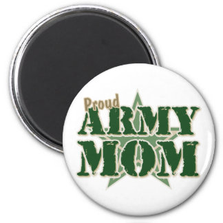 Proud Army Mom 2 Inch Round Magnet