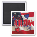 """""""Proud ARMY Mom"""" 2 Inch Square Magnet"""