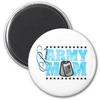 Proud Army Mom Blue Camo Refrigerator Magnets