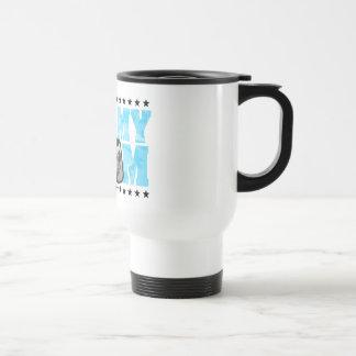 Proud Army Mom Blue Camo Coffee Mug