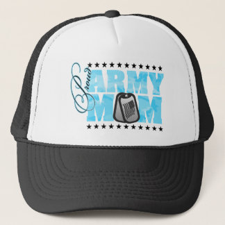 Proud Army Mom Blue Camo Trucker Hat