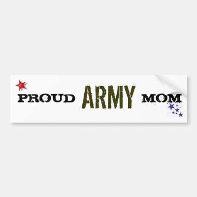 Proud army mom bumper sticker zazzle com