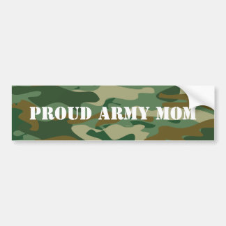 Proud army mom bumper stickers | Camouflage design