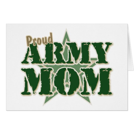 Proud Army Mom Card