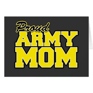 Proud Army Mom Greeting Cards