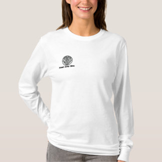 Proud Army Mom Embroidered Long Sleeve T-Shirt